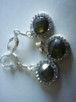 Gyönyörű zöld köves ezüst szett :)