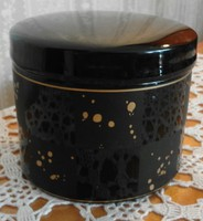 Gyönyörű Rosenthal fekete üveg tárolódoboz