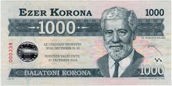 Balatoni Korona 1000 - UNC