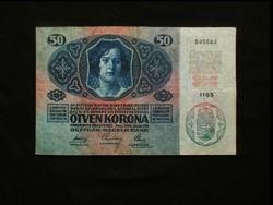 """50 KORONA 1914 !!! - NAGYON SZÉP ÉS RITKA """"DÖ"""""""