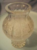 U9 Antik ólomkristály hibátlan súlyos váza ritkaság 22 cm-es