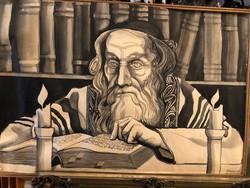Régi rabbi akvarell