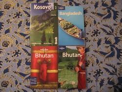 Útikönyvek Koszovó Bhután Bangladsh