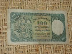 SZLOVÁKIA 100 KORONA SZLOVÁK KORUN 1940