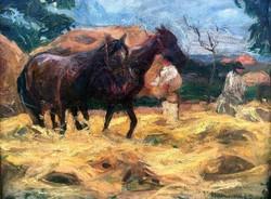 """Baranszky Emil László( 1877 - 1941 ) """" Lovak """""""