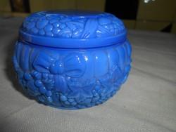 Bohémia kalcedon üveg bonbonier