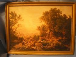 U 2 Mitológiai kép aranyszínű keretben 42 x 30 cm keret árban