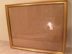 Antik Festmény vagy . tükörnek aranyozott üveglapos keret 53.5 X  44 cm es