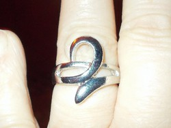 ART Deco modernista Nemesacél uniszex Gyűrű 9-es