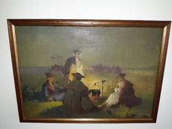 B.BÉLAVÁRY ISTVÁN: eredeti festménye