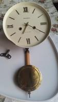 Antik óra eladó!Óraszerkezet számlappal,mutatókkal,ingával, kulccsal eladó!