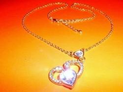 Szív a Szívben Kristály Rosé Arany b. Nyaklánc