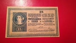 1918-as 25 Korona 3000 Feletti sorozat szám + hullám hátlap