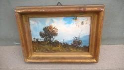 P. Schmidt jegyzett német festő kis képe