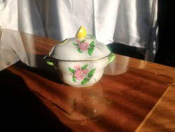 Kézzel festett Herendi porcelán cukortartó