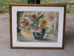 Hellmuth szignóval - Csendélet - Akvarell - Keretezve