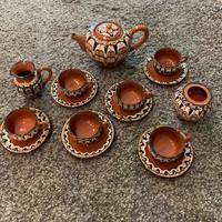 Bolgár népművészeti kávés készlet