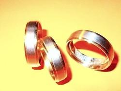 Arany- Ezüst Nemesacél Uniszex Karikagyűrű 21-19-es méretig