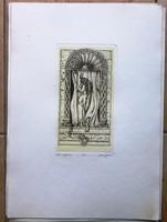 Molnár István,horoszkóp rézkarc,bak sorszámozott 23/100 41,5 x 29,3, 21x12 cm