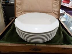 Fehér festetlen herendi lapos tányér