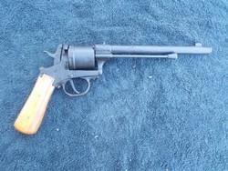 Nagyméretű Gasser lovassági revolver, pisztoly, a ritka leghosszabb csövű verzió hatástalanítva
