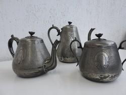 Ezüstözött teás szett az 1800-as évekből