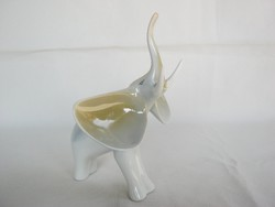 Hollóházi porcelán elefánt