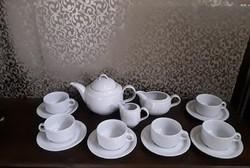 Fehér porcelán teás készlet  /  2451