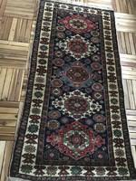 Afgán kargahi szőnyeg öt medallion mintával, 180 x 90 cm