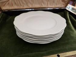 Fehér festetlen herendi desszertes tányér 6 db