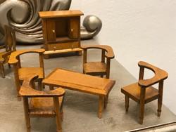 Antik fa baba bútor szett