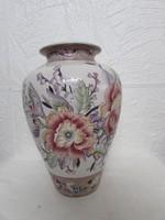 Szeci virágos porcelán vása