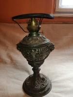 Antik petróleumlámpa fém. 19 sz.