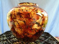 Fratelli toso multicoloured a canne gigantikus nagy  kaspó , italy ca. 1965 fújt üveg kaspó