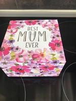 """Virágos bögre: """" A legjobb Anya"""" (Best Mum Ever) felirattal"""