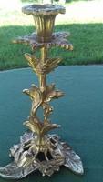 GYÖNYÖRŰ! Antik réz gyertyatartó 21cm