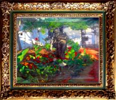 Litteczky Endre  - Nagybányai kert Akt szoboral