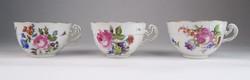 0V662 Antik Herendi porcelán teáscsésze 3 db 1920