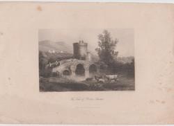 A.H. Payne - The Tomb of Plautius Lucanus - Acélmetszet 1800-as évek
