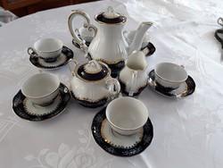 Zsolnay Pompadour 6 személyes kávéskészlet újszerű állapotban