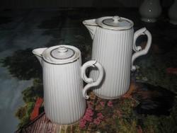Lukafai  antik kiöntők    14 és 11 cm   / ritkán  elő kerülő  porcelánok /