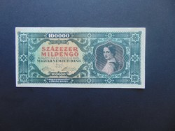 100000 milpengő 1946 B 074 Szép ropogós bankjegy