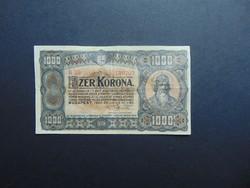 1000 korona 1923 B 55 Nyomdahely nélkül