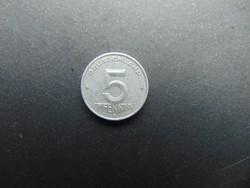 5 pfennig 1953 E Németország