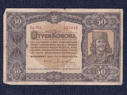 Nagyméretű Korona Államjegyek 50 Korona bankjegy 1920/id 9861/