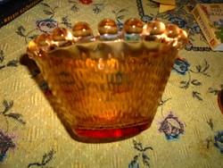 Jelzett üveg tál