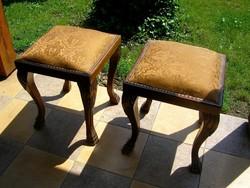 2 db neobarokk, vagy biedermeier zsámoly, ülőke, szék