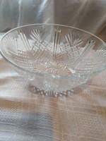 Üveg csiszolt tál  22 cm