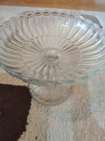 Űveg talpas tányér