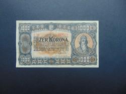 1000 korona 1923 B 39 Magyar Pénzjegynyomda RT